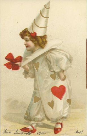 Frances-brundage-pierrot-harlequin-clown-valentine-holiday-paris