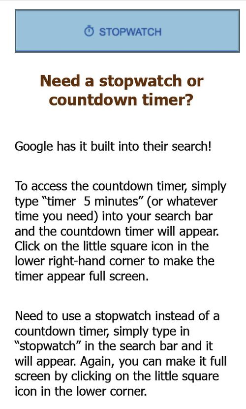 GoogleStopwatch