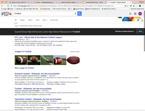 FootballGoogleSearchSHOW