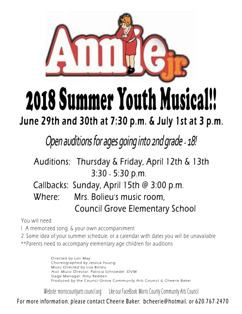 AnnieJr.auditionflyer2018