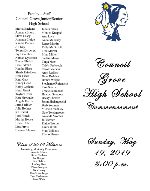 2019 Commencement Program-1