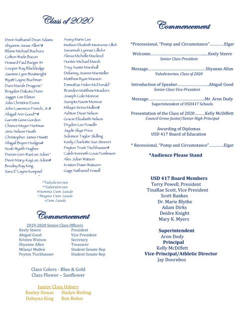 2020 Commencement Program-2